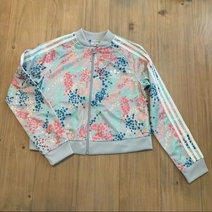 Adidas | Floral Superstar Cropped Track Jacket NWT